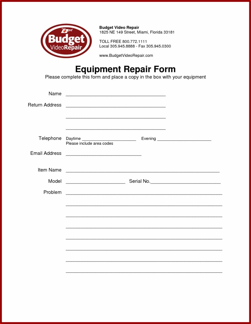 Free Hvac Repair Invoice Template