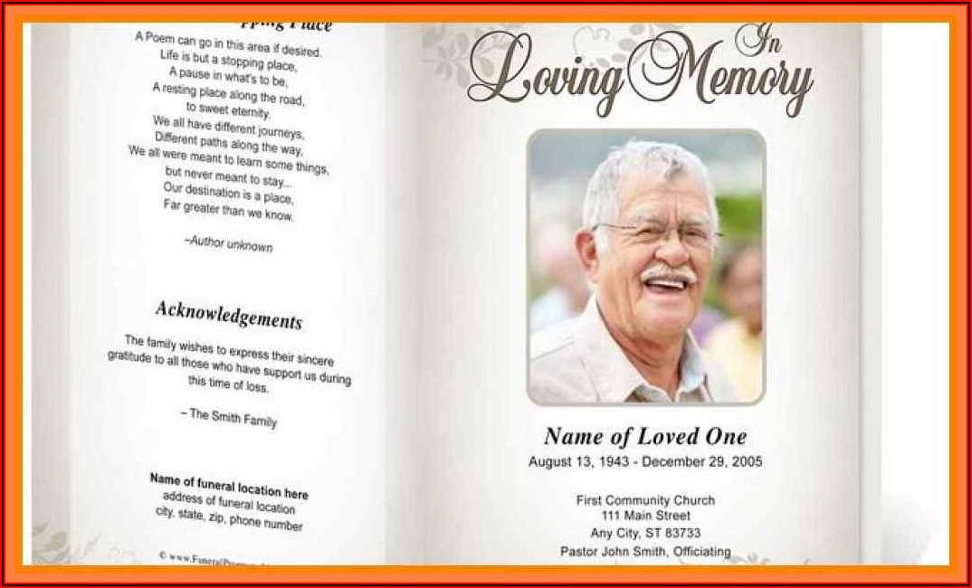 Free Memorial Service Brochure Templates