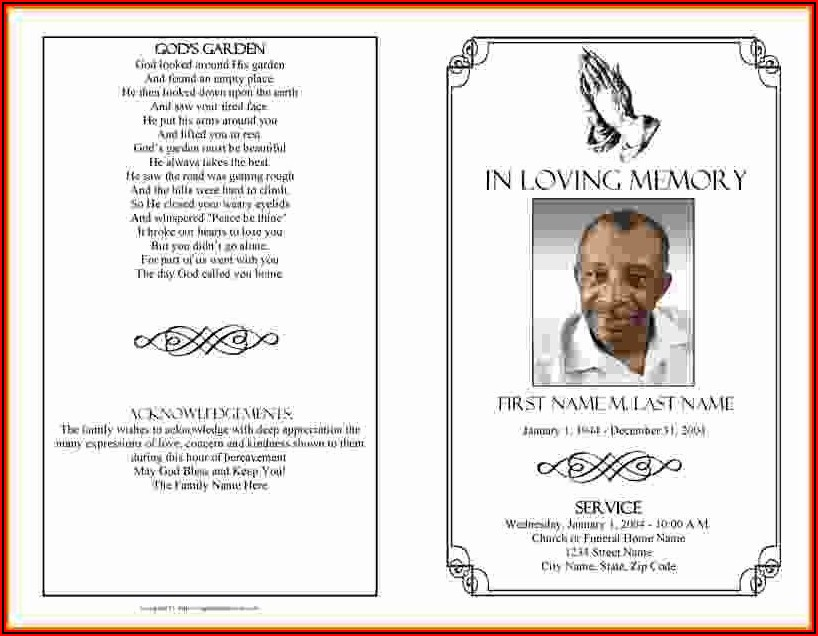 Free Memorial Service Program Template Download