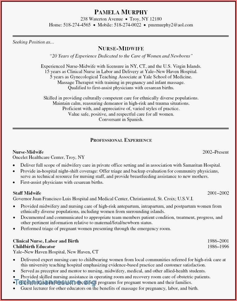 Free Nursing Resumes Templates