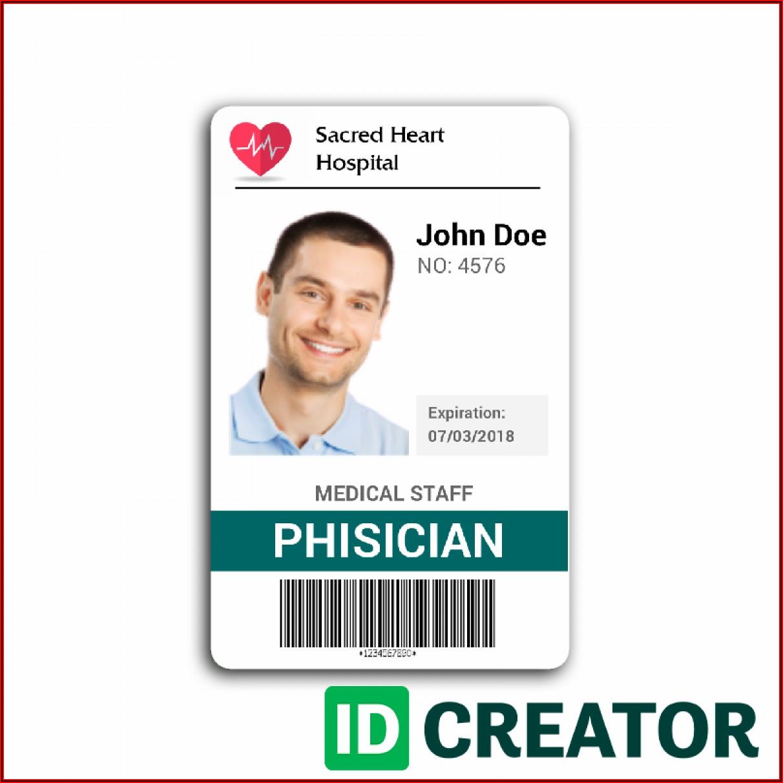 Free Online Employee Id Badge Template