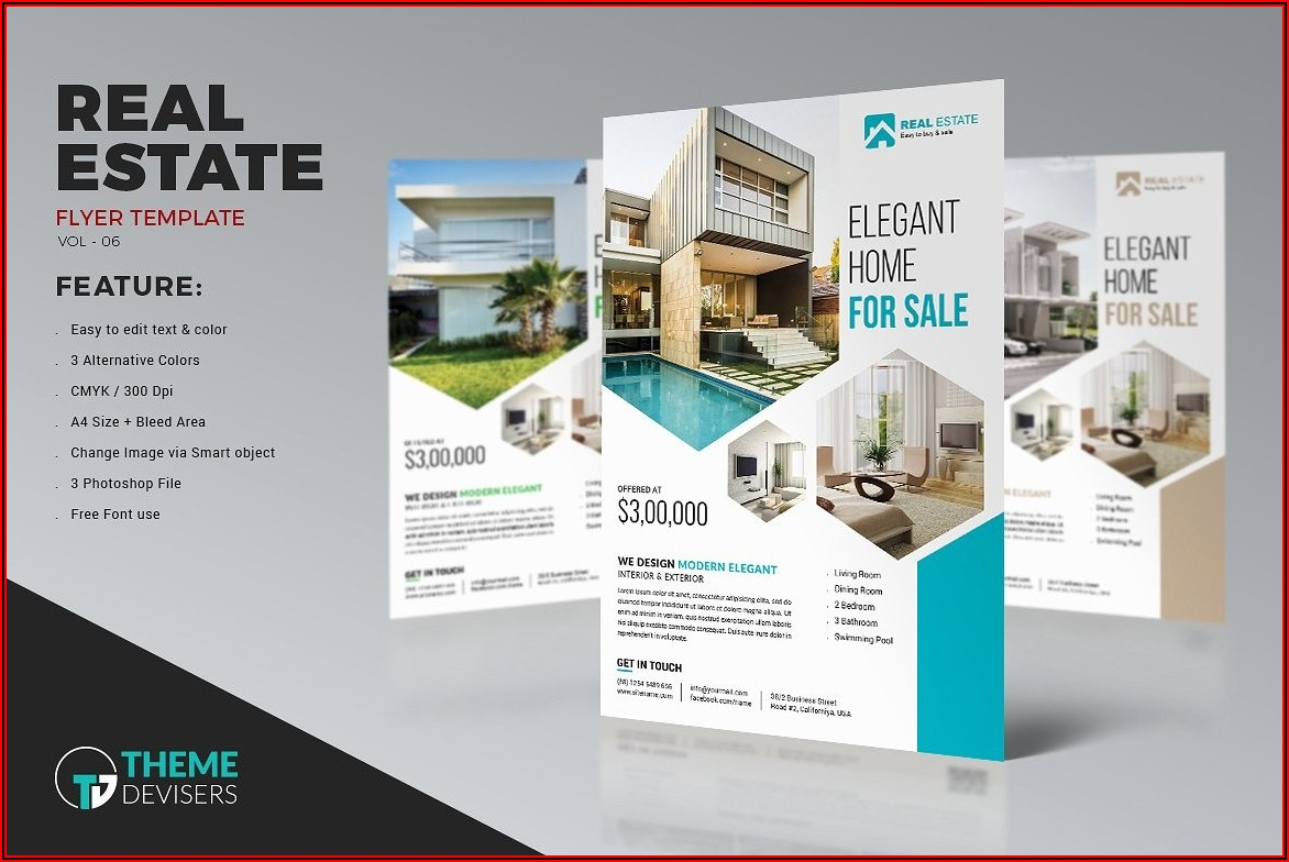 Free Photoshop Real Estate Flyer Templates