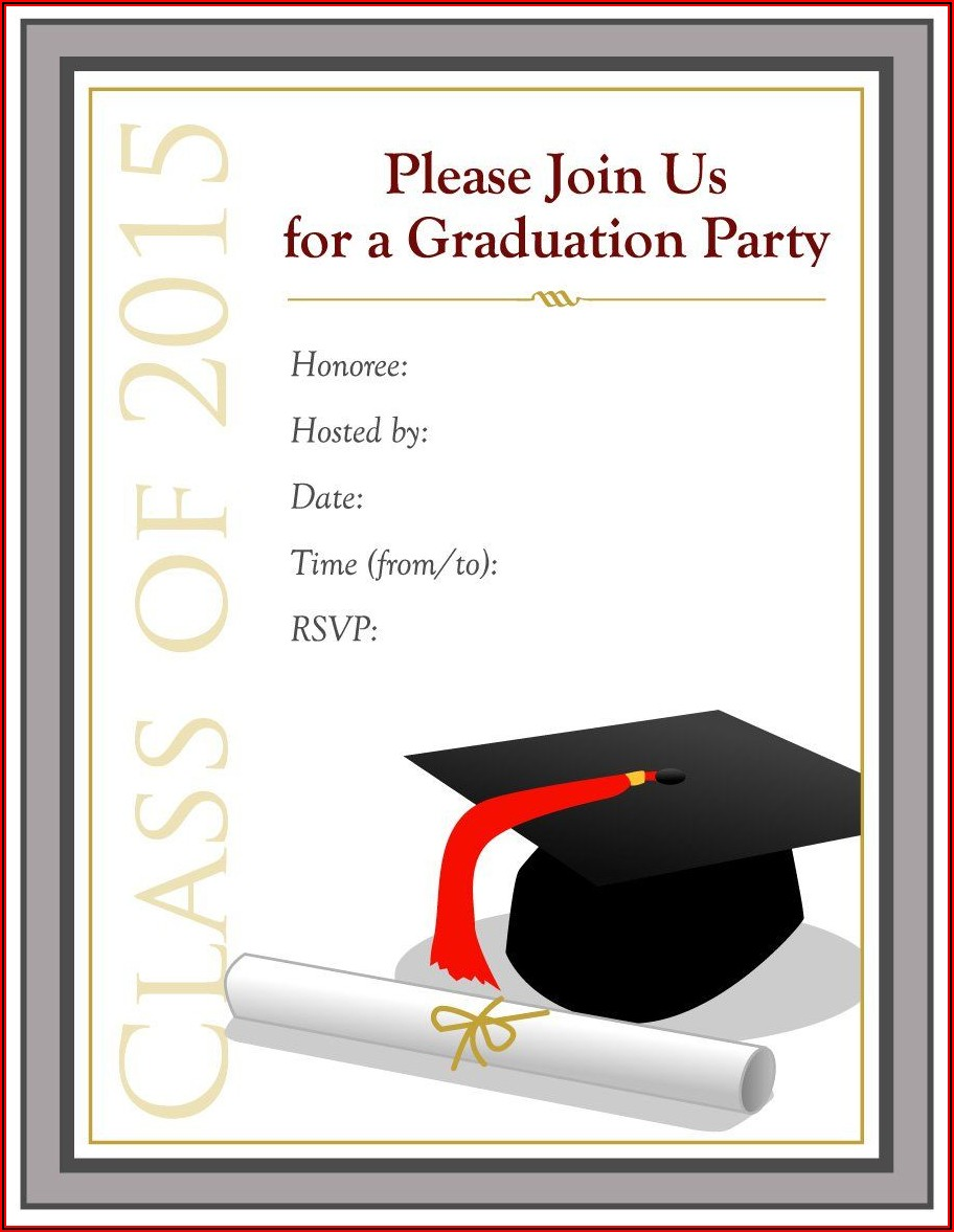 Free Printable Graduation Party Invitation Templates For Word