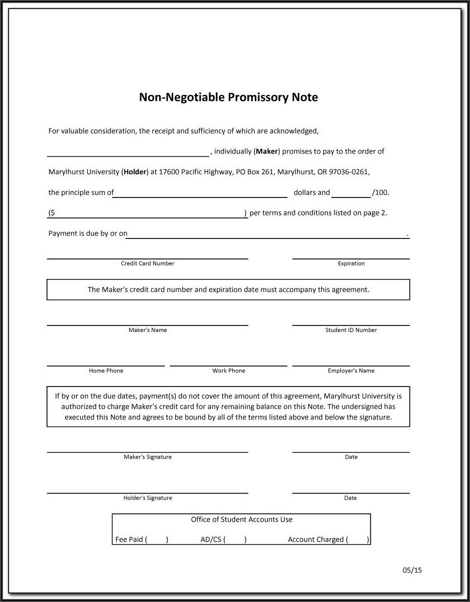 Free Promissory Note Template Pdf Canada