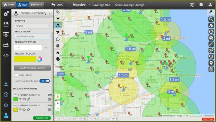 Free Radius Map With Zip Codes
