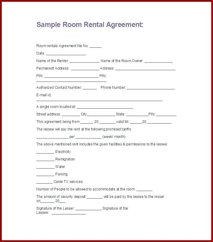 Free Residential Lease Application Template