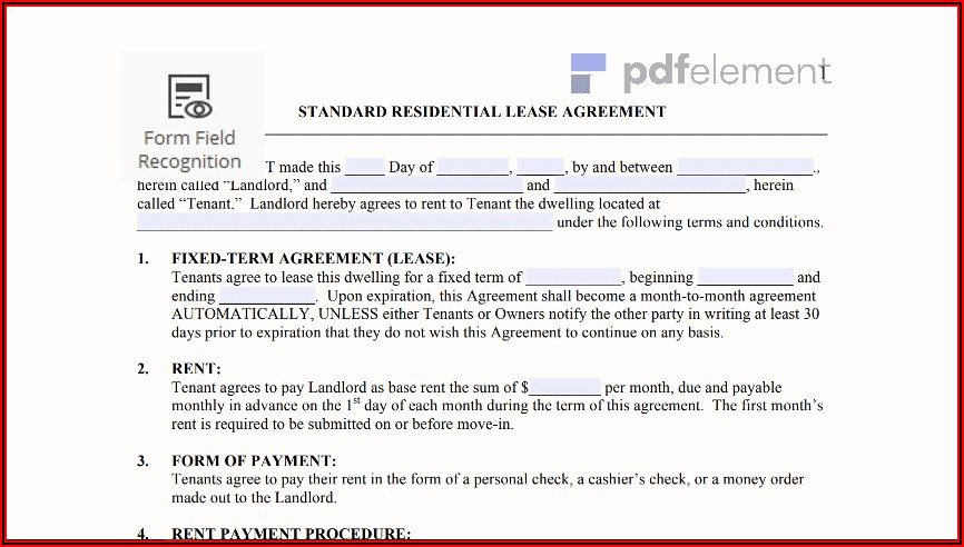 Free Residential Lease Template