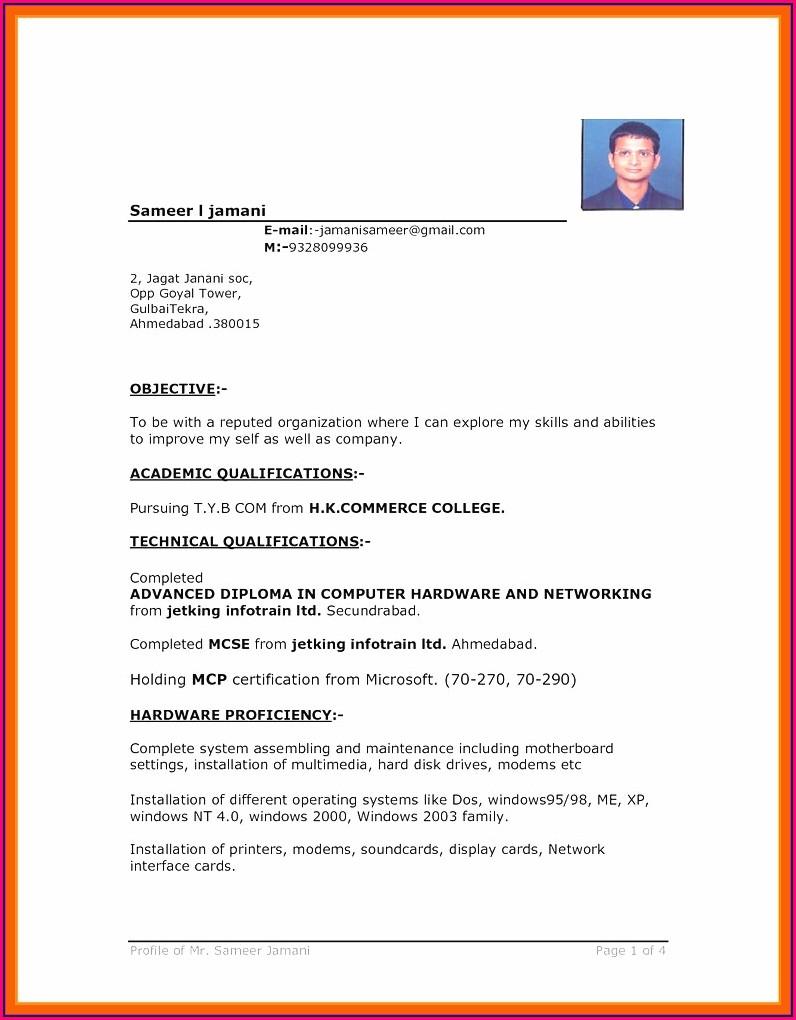 Free Resume Download Format