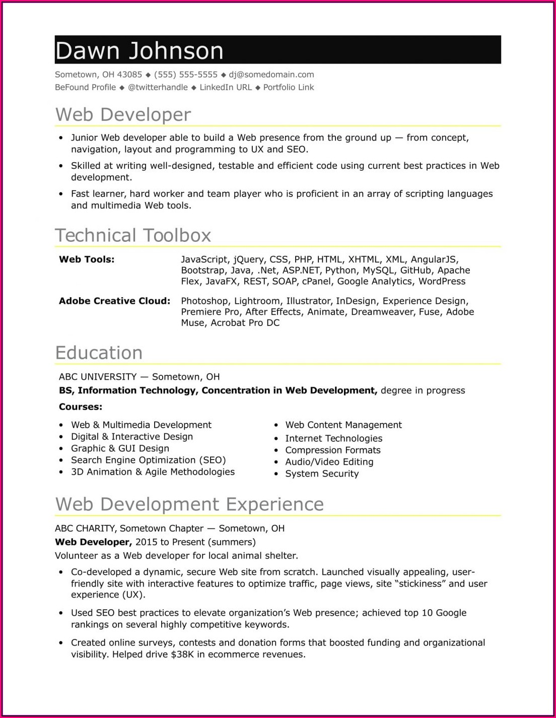 Free Resume Template Download Australia
