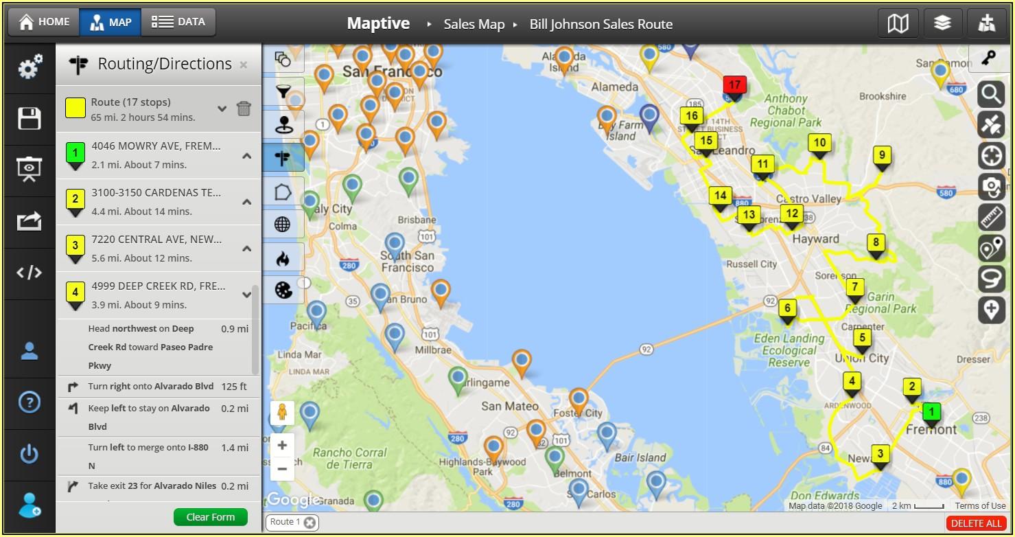 Free Sales Territory Map Maker