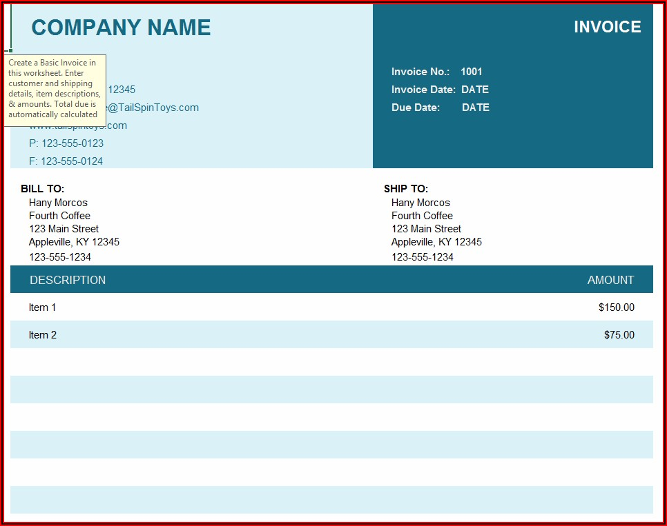 Free Self Employed Invoice Template Word