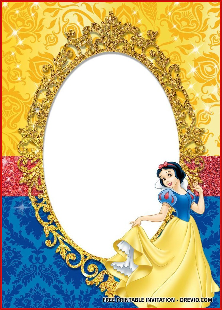 Free Snow White Birthday Invitation Templates