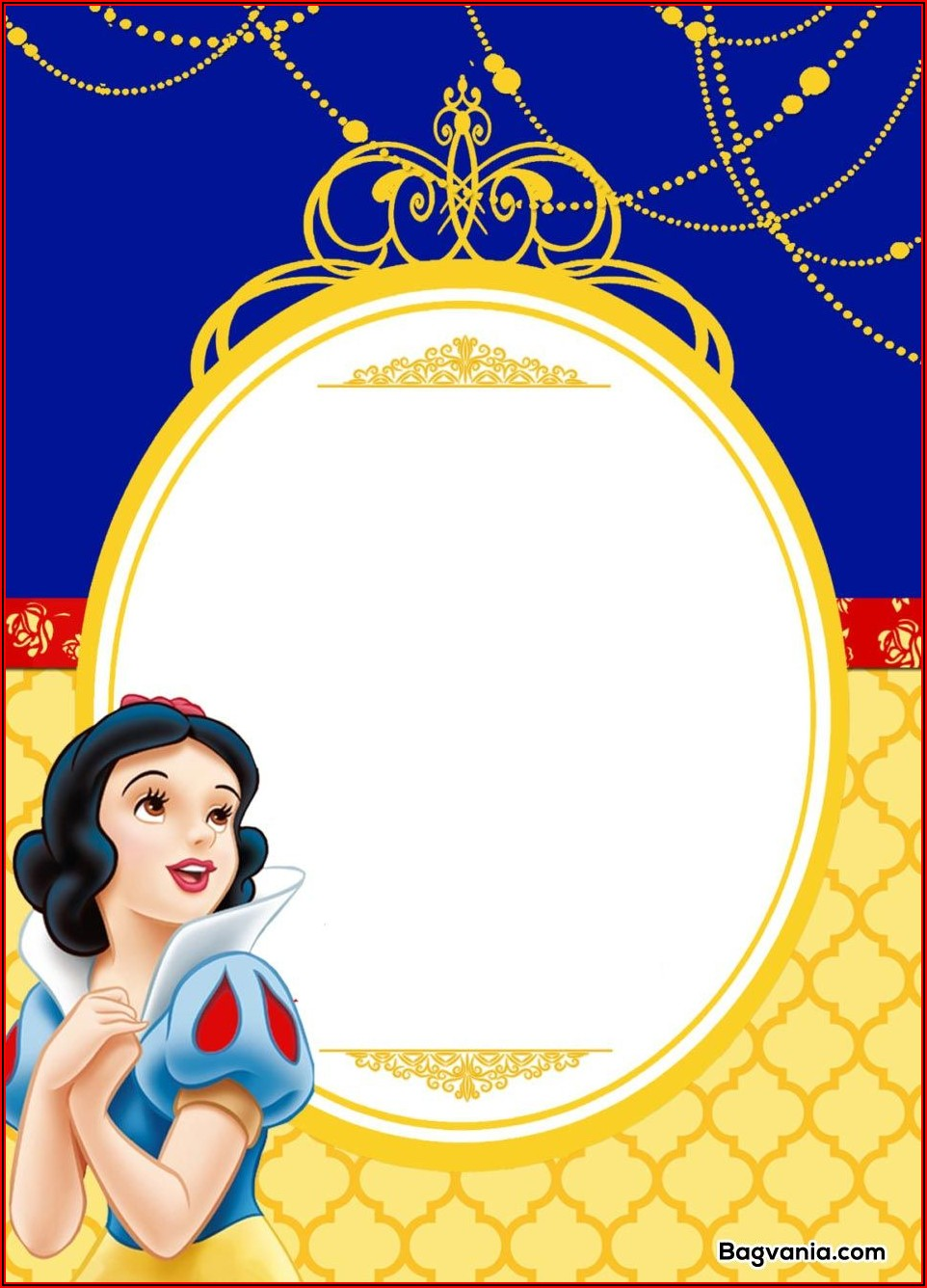 Free Snow White Invitation Template