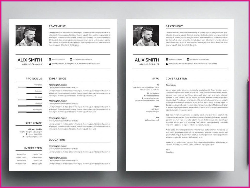 Free Template Resume Psd