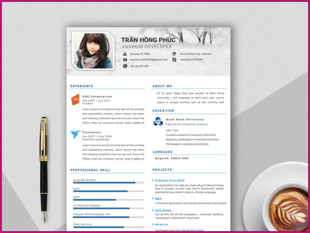 Free Template Resume Word