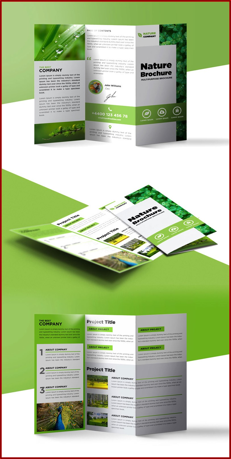 Free Template Tri Fold Brochure