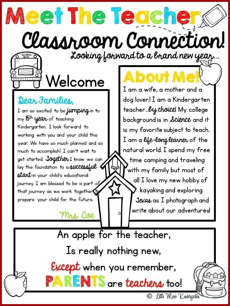 Free Weekly Newsletter Templates For Elementary Teachers