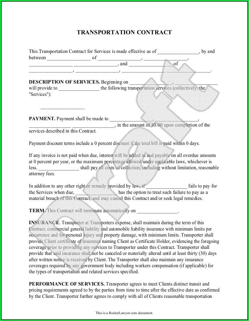 Freight Broker Agreement Forms