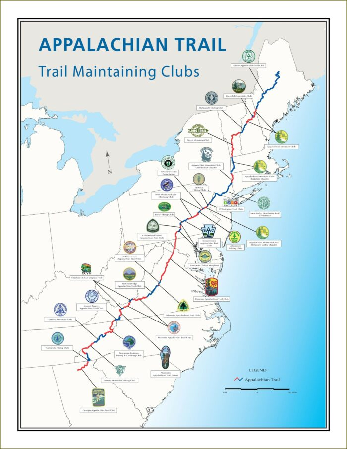 Full Map Of Appalachian Trail