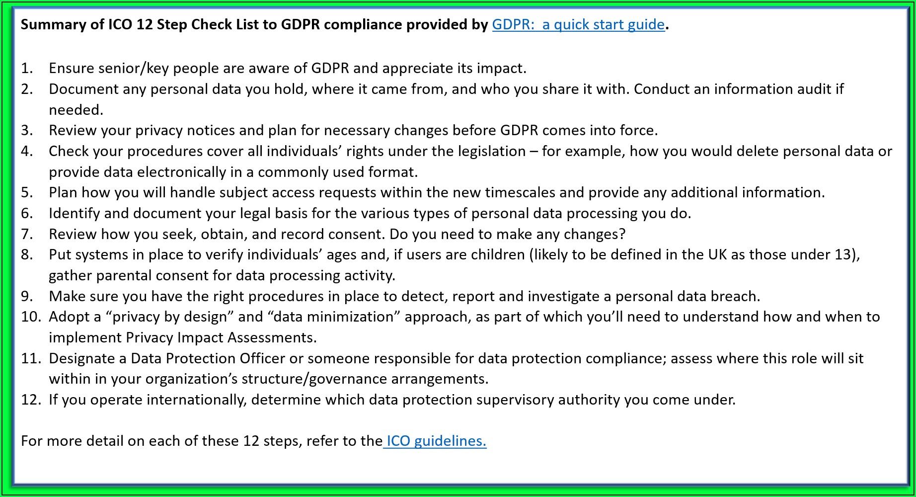 Gdpr Consent Form Template Ico