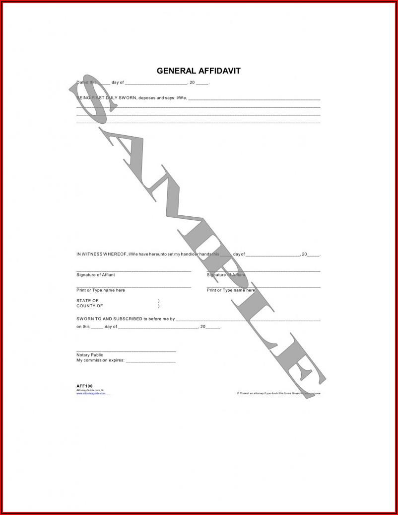 General Affidavit Template