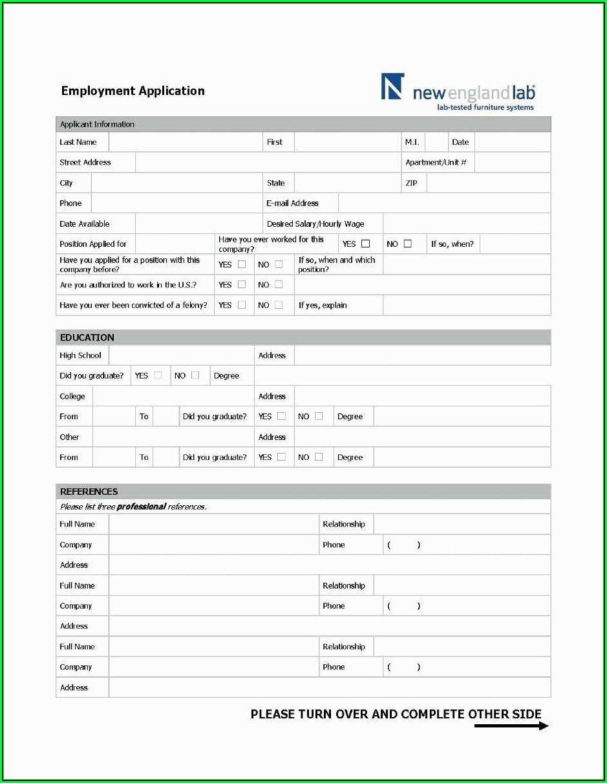 Generic Apartment Application Form