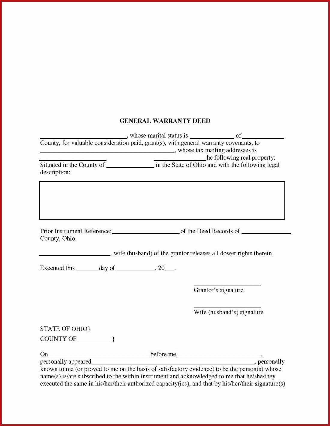 Georgia Quit Claim Deed Form Pdf
