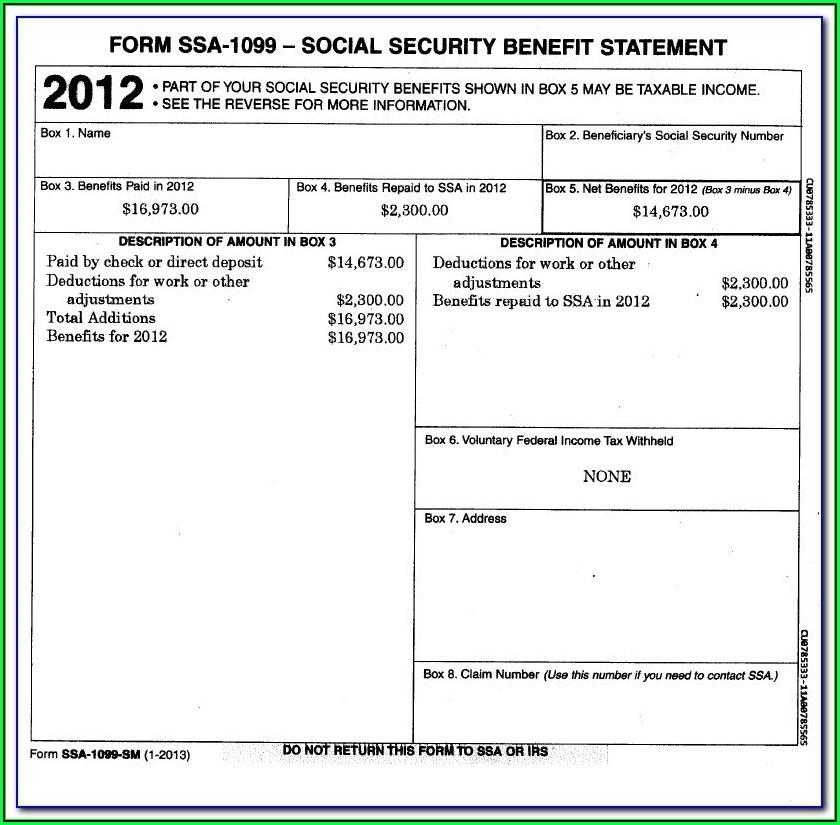 Get Form Ssa 1099 Online