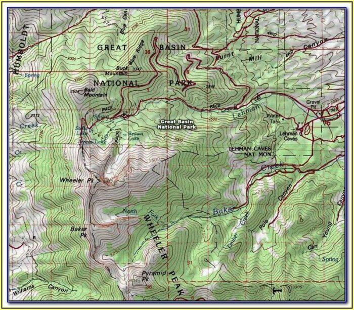 Glacier National Park Highline Trail Map