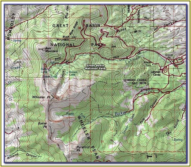 Glacier National Park Highline Trail Map