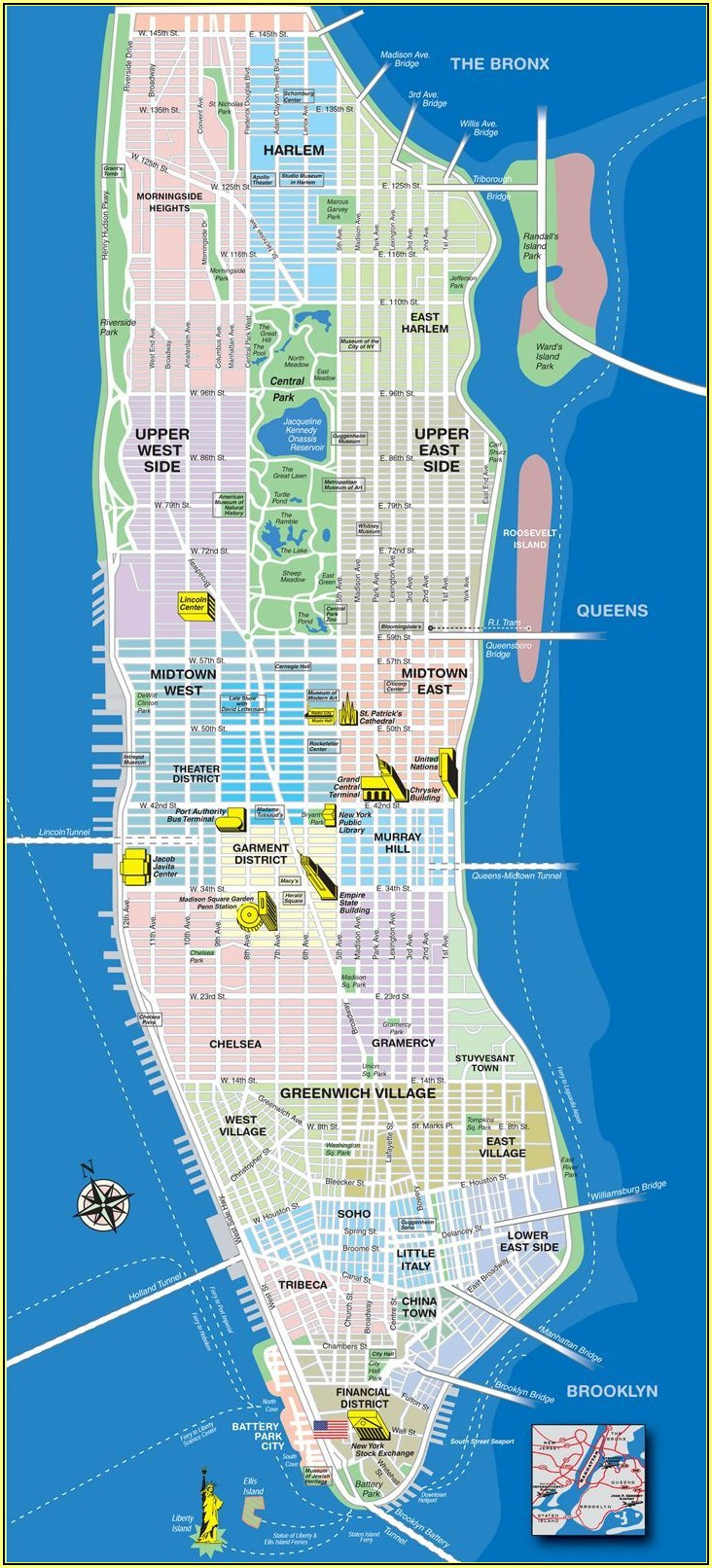 Google Map Of New York City Manhattan