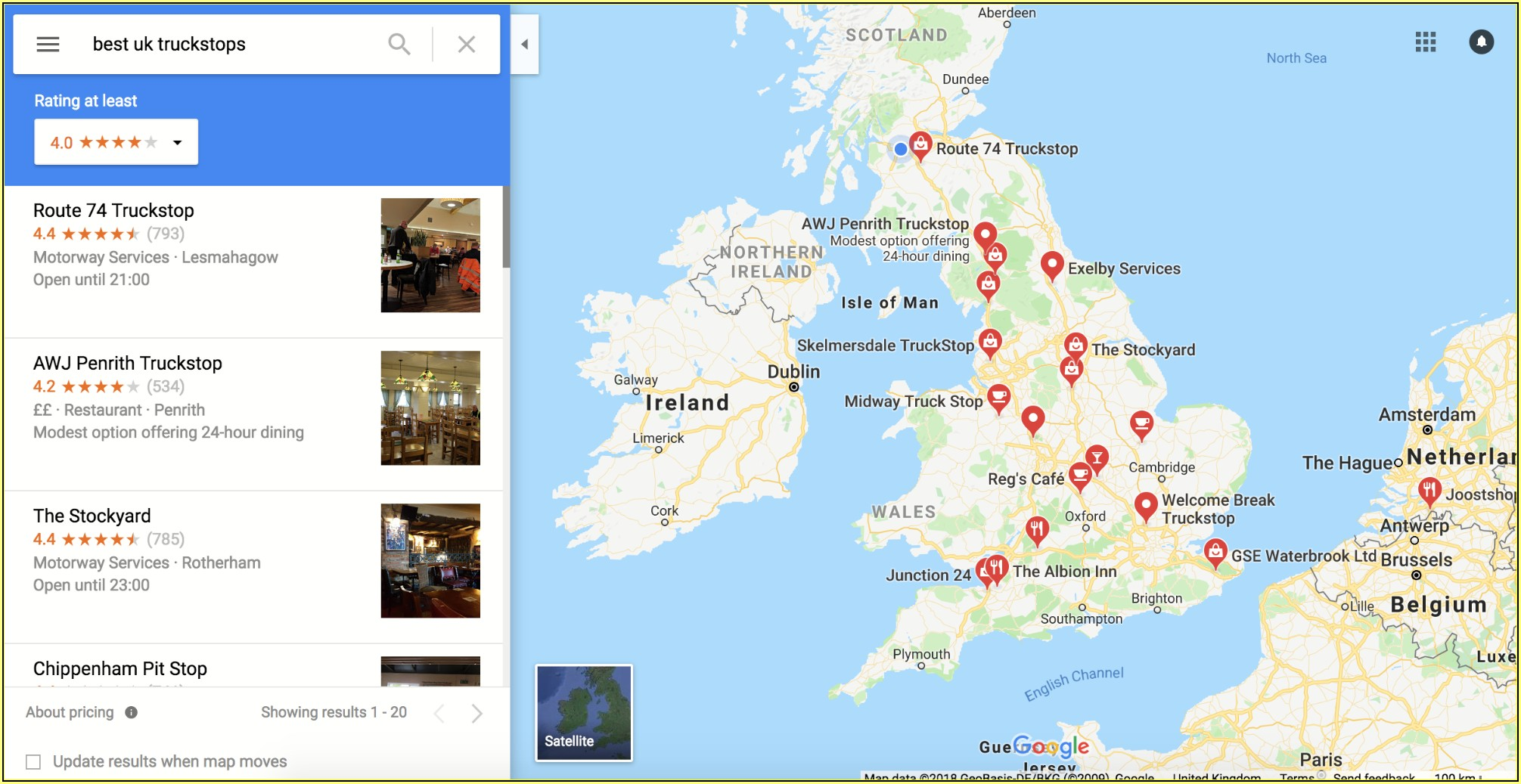 Google Maps For Truck Drivers Uk