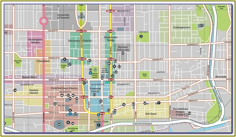 Google Maps Hotels Downtown Toronto