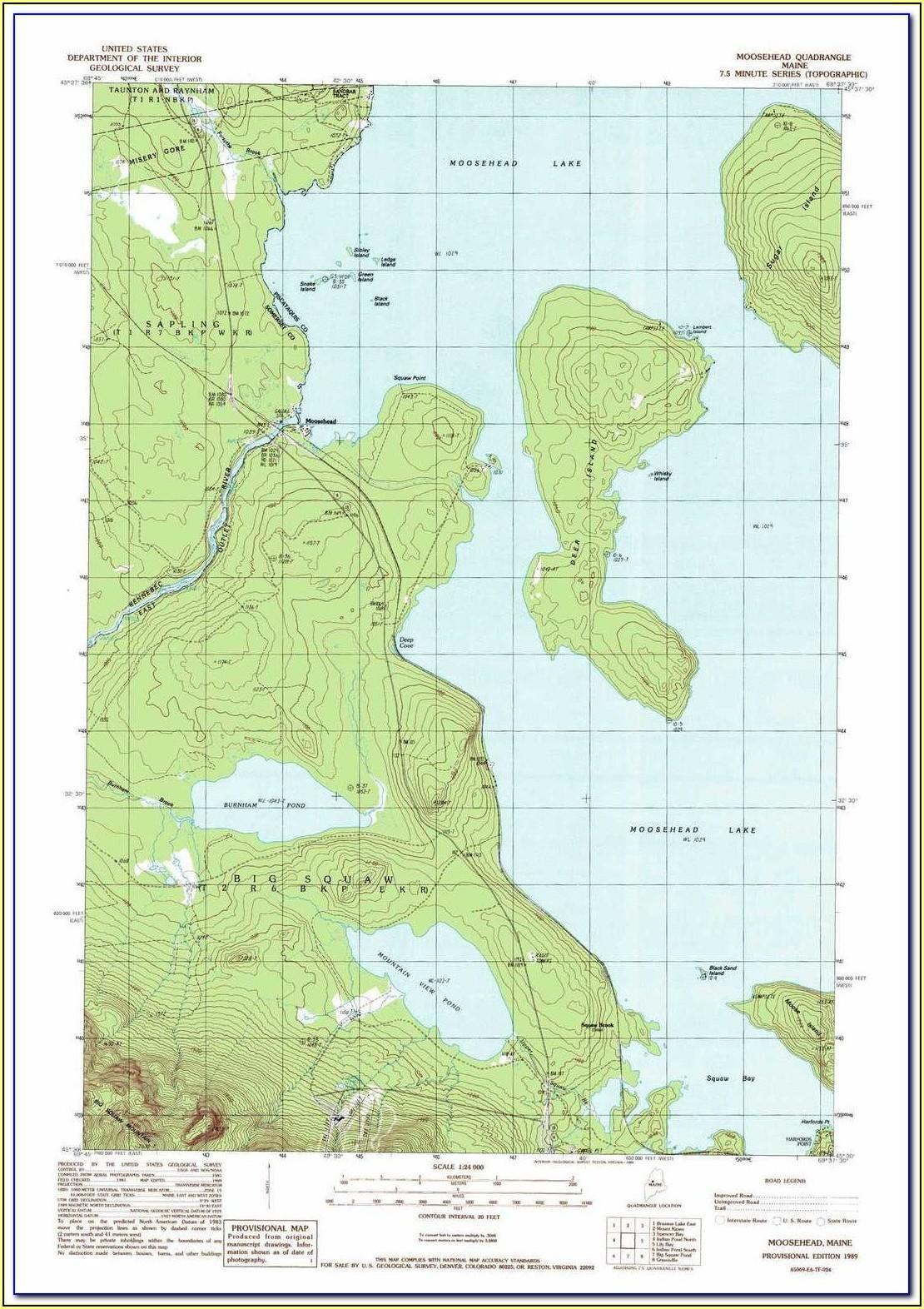Google Maps Moosehead Lake Maine