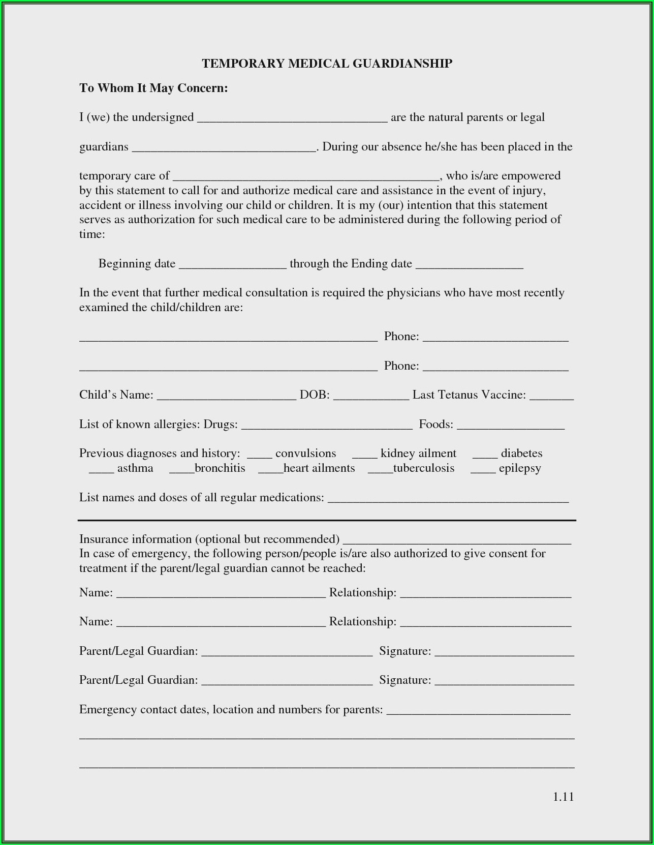 Guardianship Forms Az