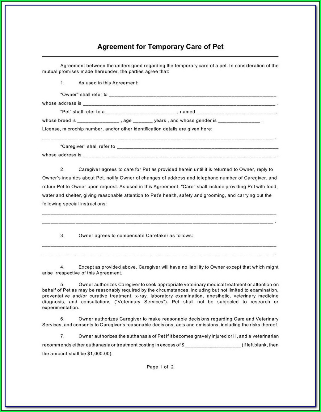 Guardianship Forms Indiana Free