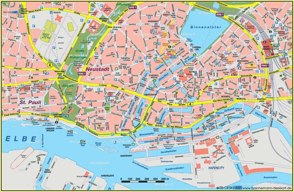 Hamburg City Centre Map Pdf