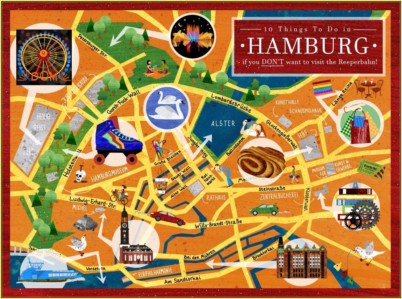 Hamburg City Centre Map