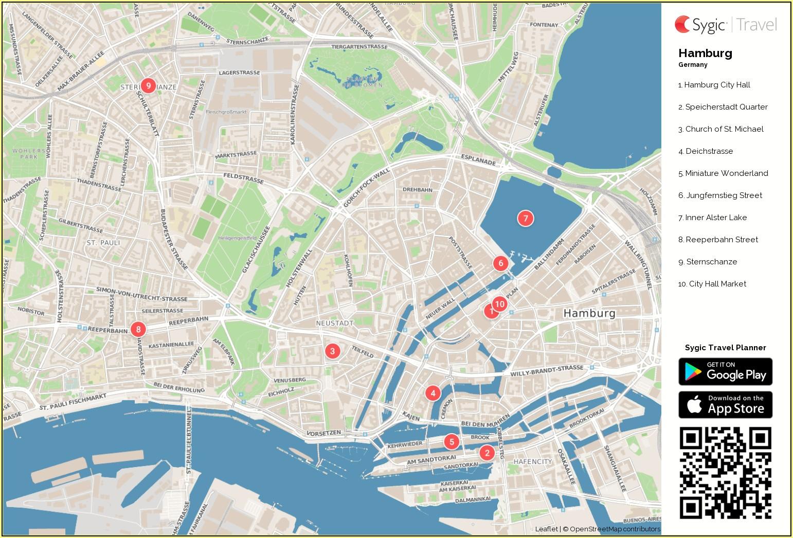 Hamburg City Centre Street Map