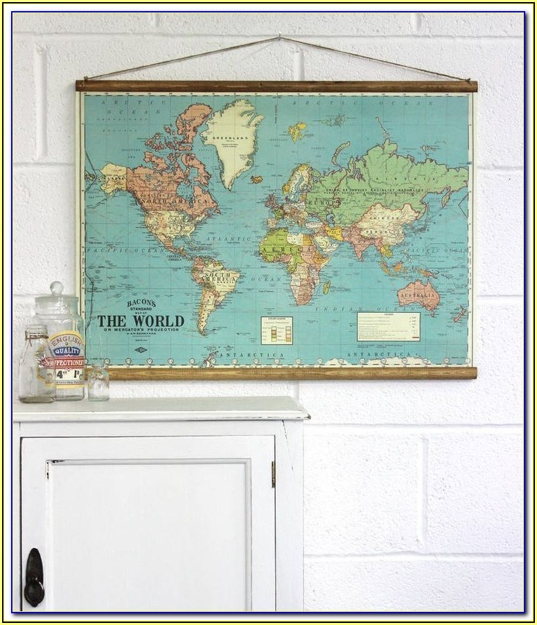 Hanging Antique Wall Maps