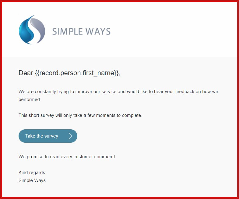 Helpdesk Email Template