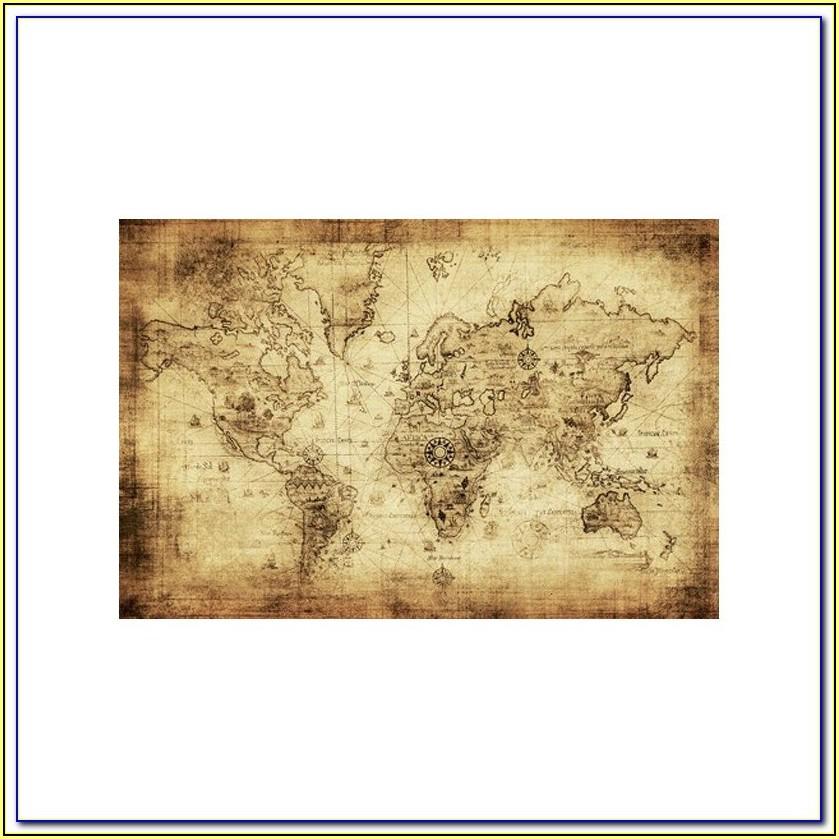 High Res Vintage World Map