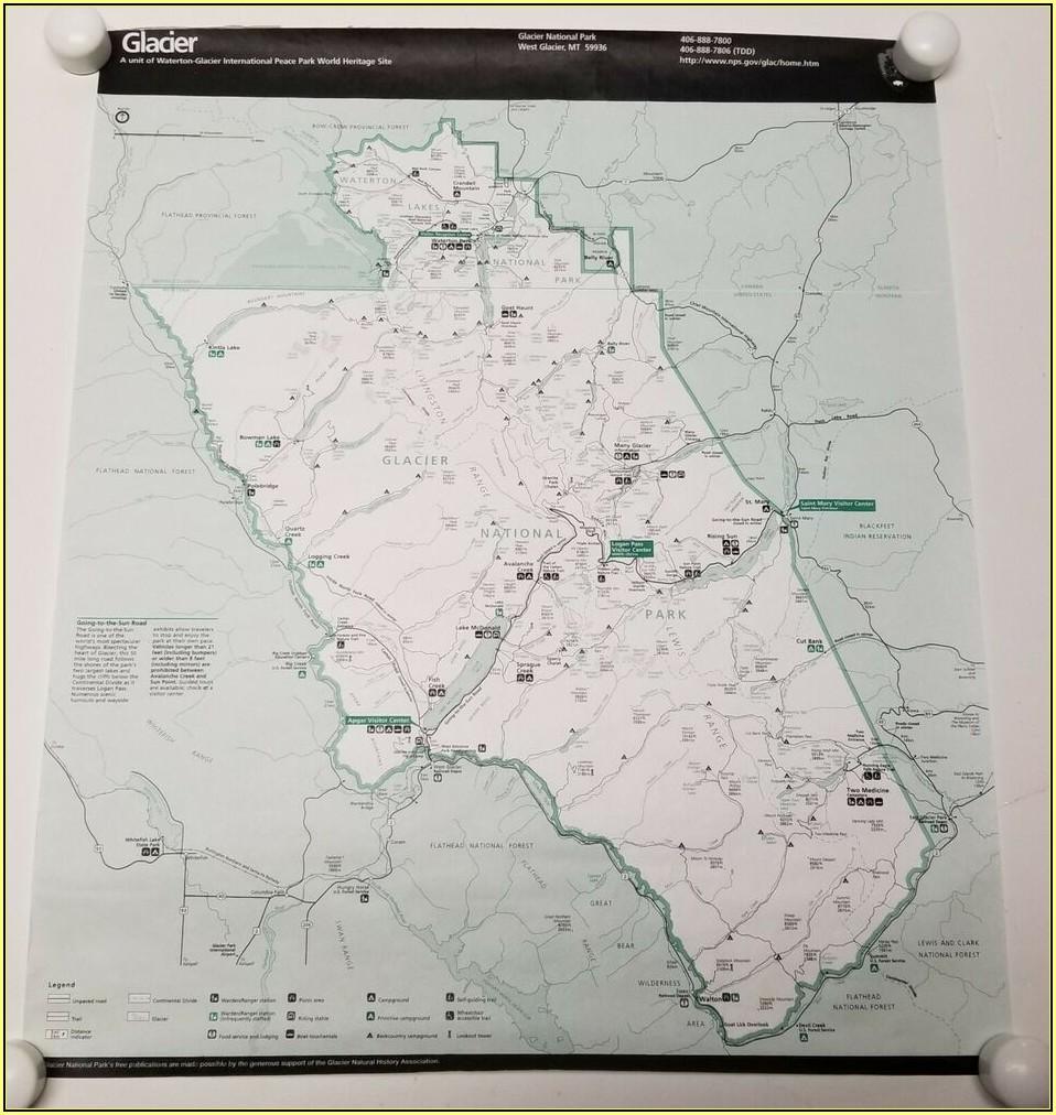 Hiking Trail Map Glacier National Park