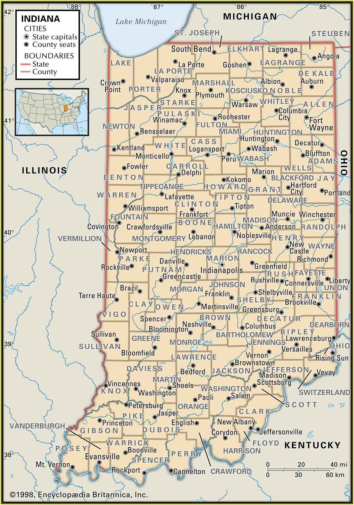Historic Indiana Highway Maps