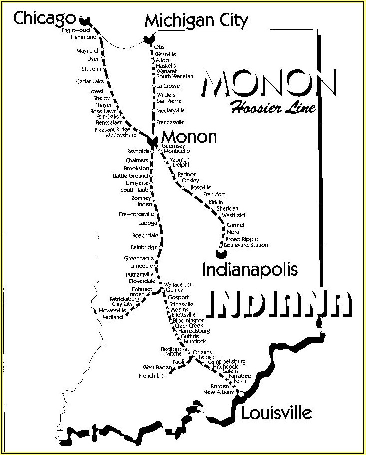 Historic Indiana Railroad Maps