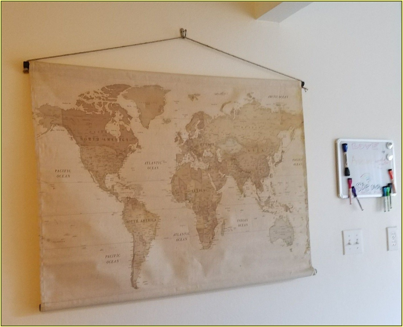 Hobby Lobby World Map Canvas