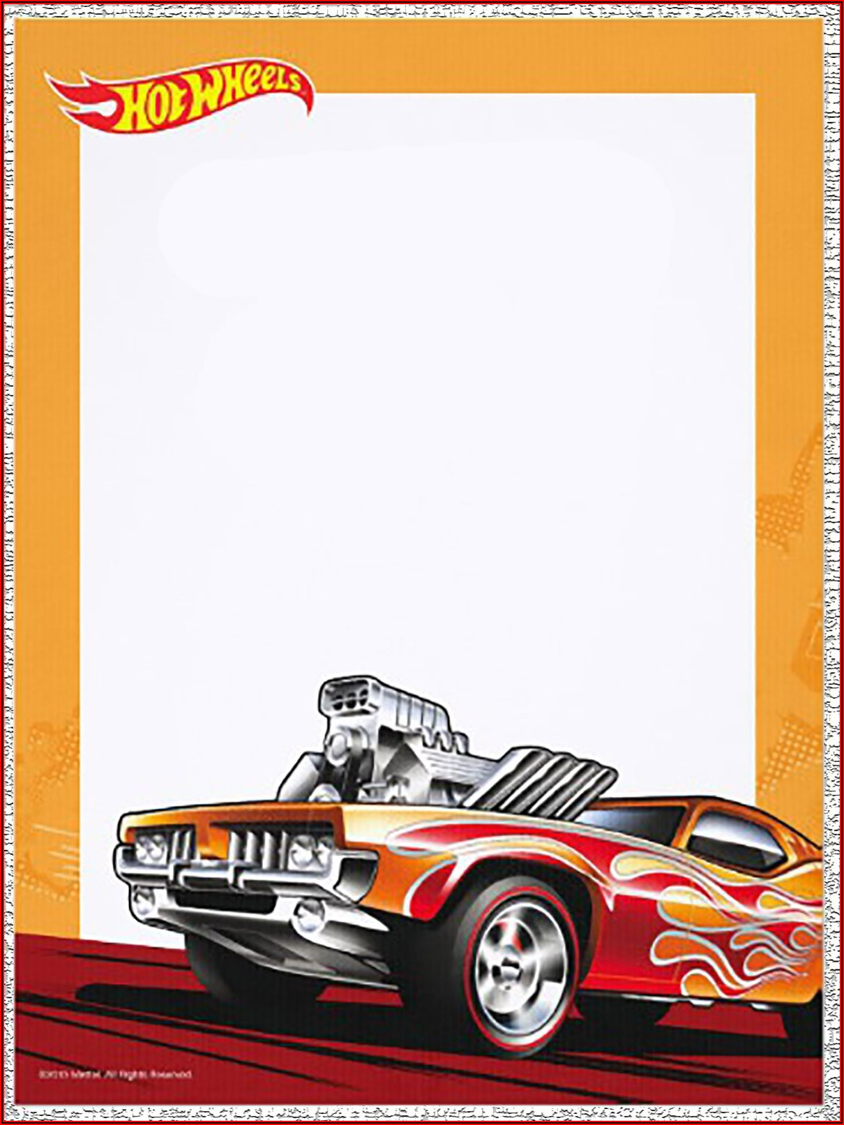 Hot Wheels Invitation Blank Template