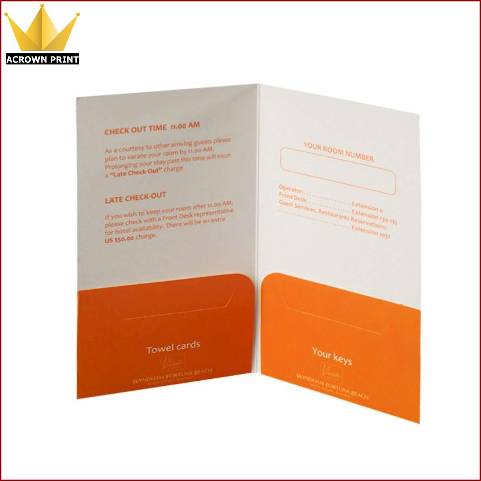 Hotel Key Card Sleeve Template