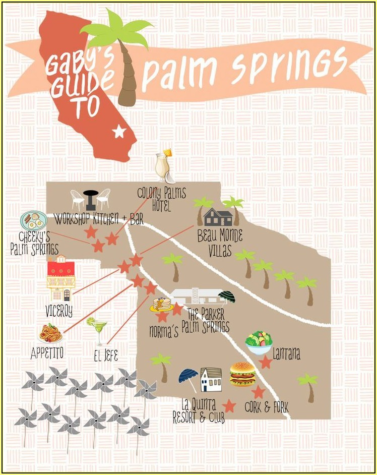 Hotels Downtown Palm Springs Map
