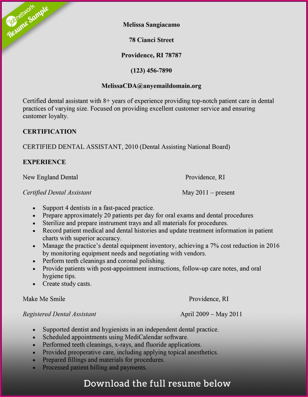 How To Build A Resume Examples